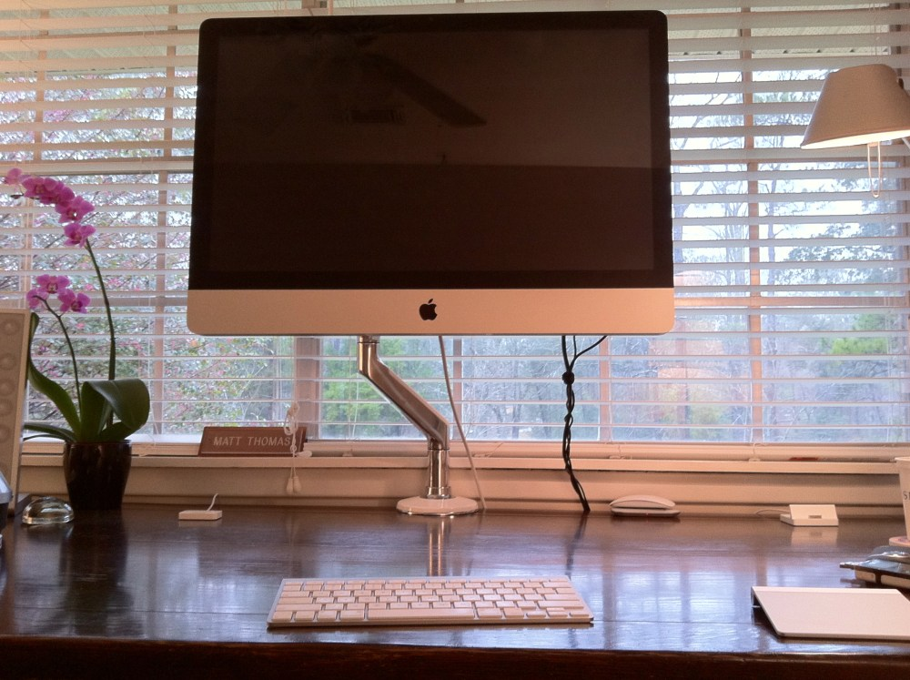 iMac + Humanscale M8 (5/6)