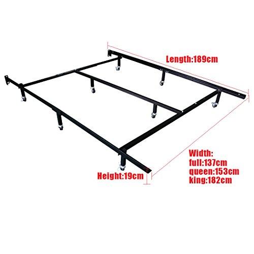 Hlc Smart 8 Wheel Metal Bed Frame 3 Adjustable Sizes