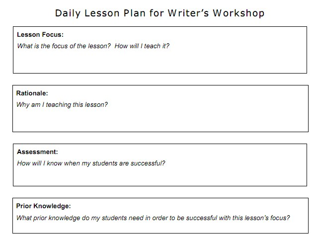Lausd Lesson Plan Template Image Collections Template Design Free