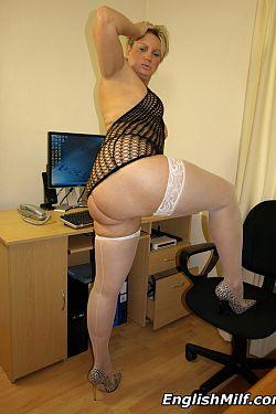 mature women in lingerie stockings