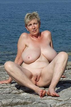 mature granny perky tits