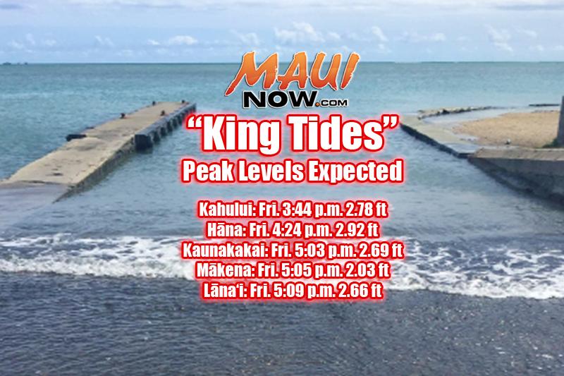 Maui Now  \u201cKing Tide\u201d Peak Levels Forecast for Maui