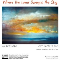 Invitation To My Solo Painting Exhibtion At The Akus Gallery in Willimantic, CT (10/24/13 - 12/12/13)