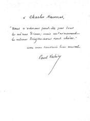 Dédicace de Paul Valéry.