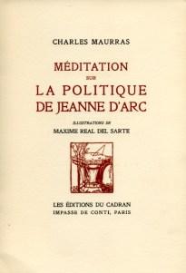Méd. sur la pol. de Jeanne d'Arc, 1 - Maxime Real del Sarte