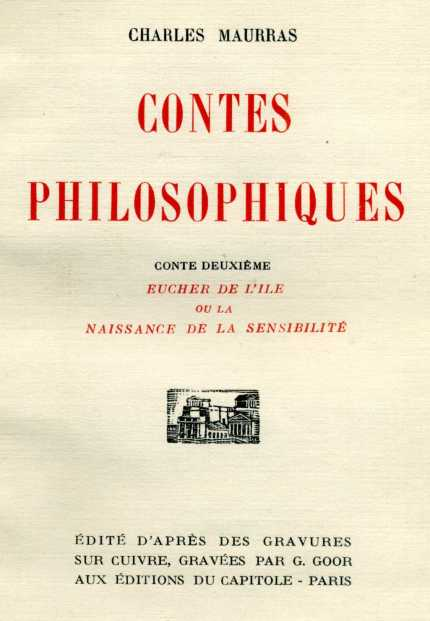 Contes philosophiques, 1928.