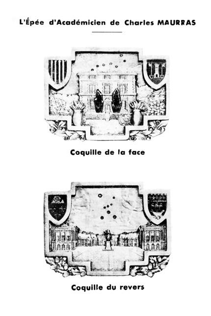 Coquilles de l'épée de Charles Maurras