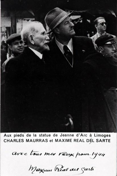 1942 - Charles Maurras et Maxime Real del Sarte à Limoges