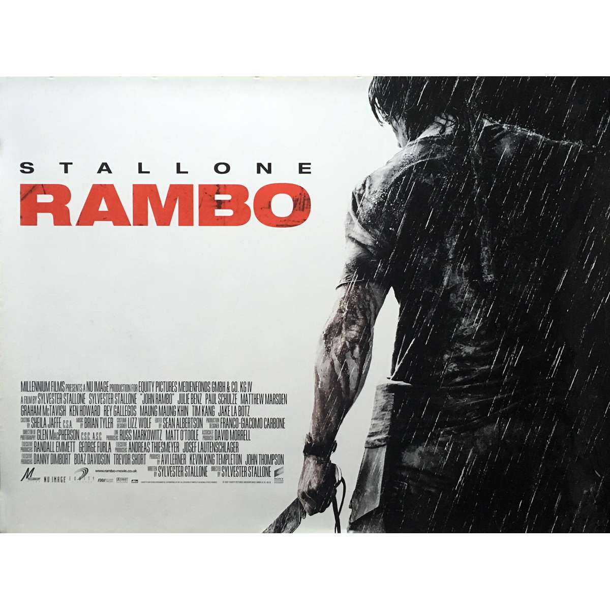 Poster 30x40 Rambo Movie Poster 30x40 In.