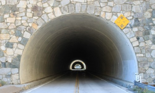 Twin tunnels, Southern California style!  (ha ha) Picture by Maven