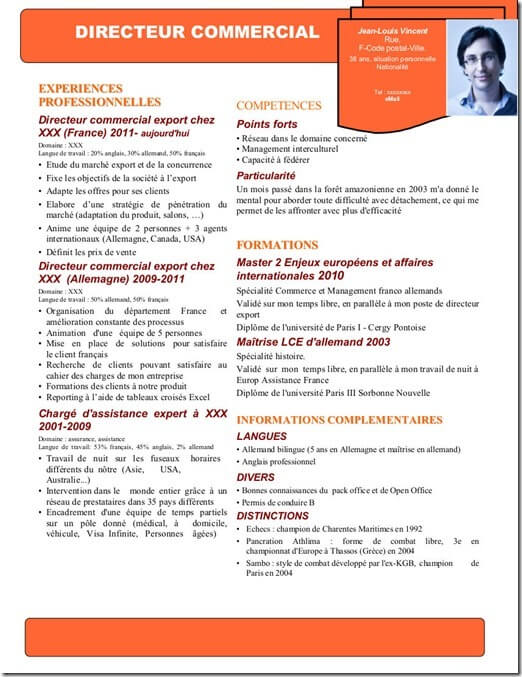 exemple de passion pour cv