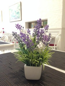 Lavendar flower in cafe