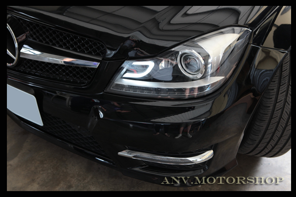 Bad Led Headlights 2012-2013 W204 Aftermarket Projector Headlights - With The