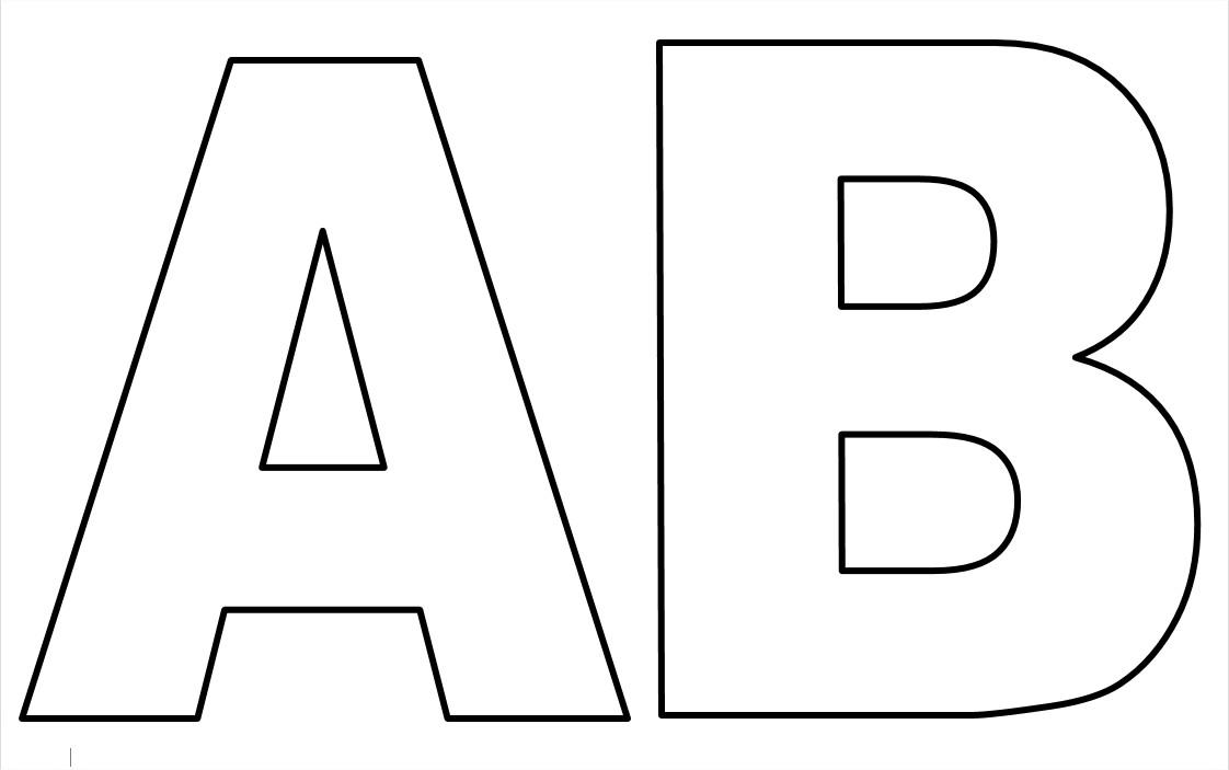 Moldes de Letras do Alfabeto em EVA para Imprimir para