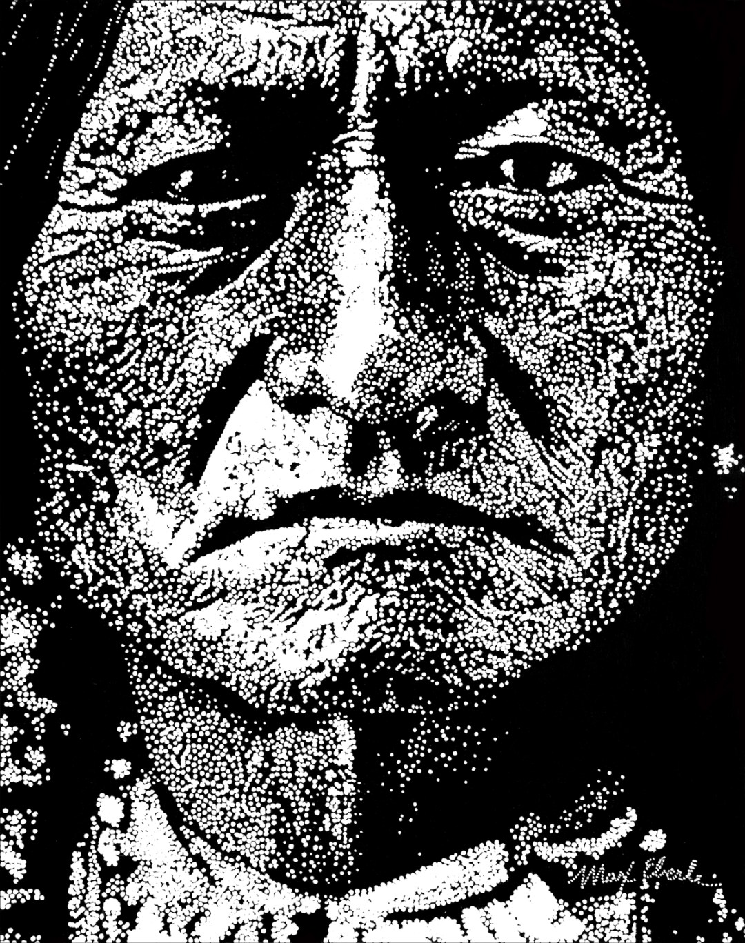 Sitting Bull painting by Max Eberle. 48 by 38 inches, acrylic on canvas