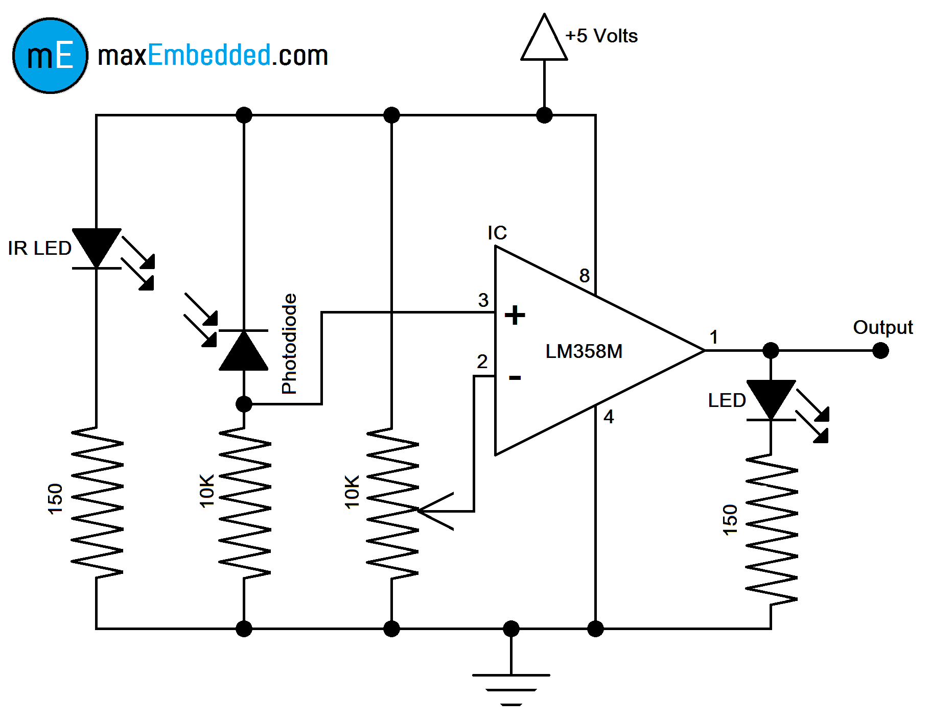 How To Build An Ir Sensor on 4 way switch schematic diagram
