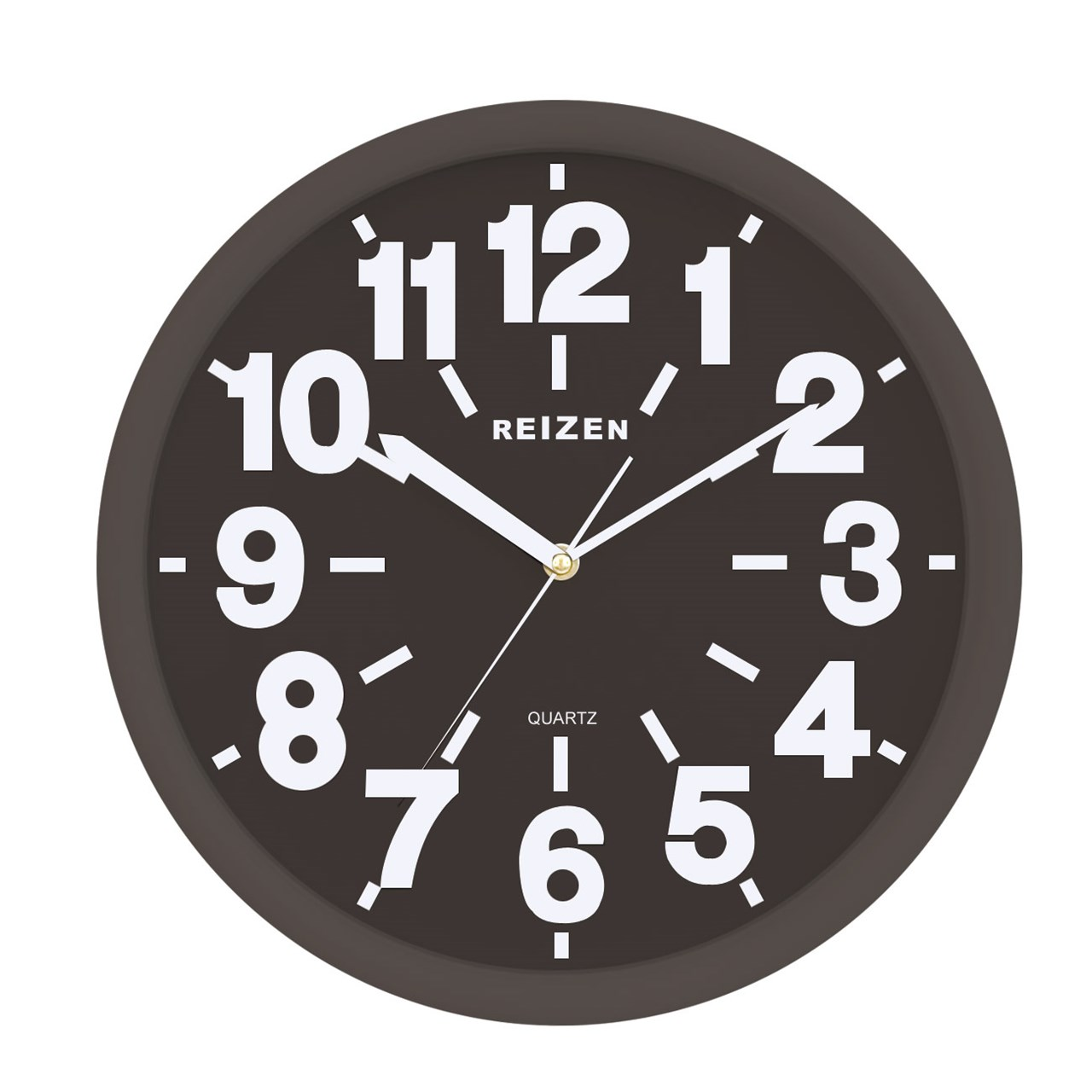 Black Wall Clock Reizen Low Vision Quartz Wall Clock Black Face With White Numbers