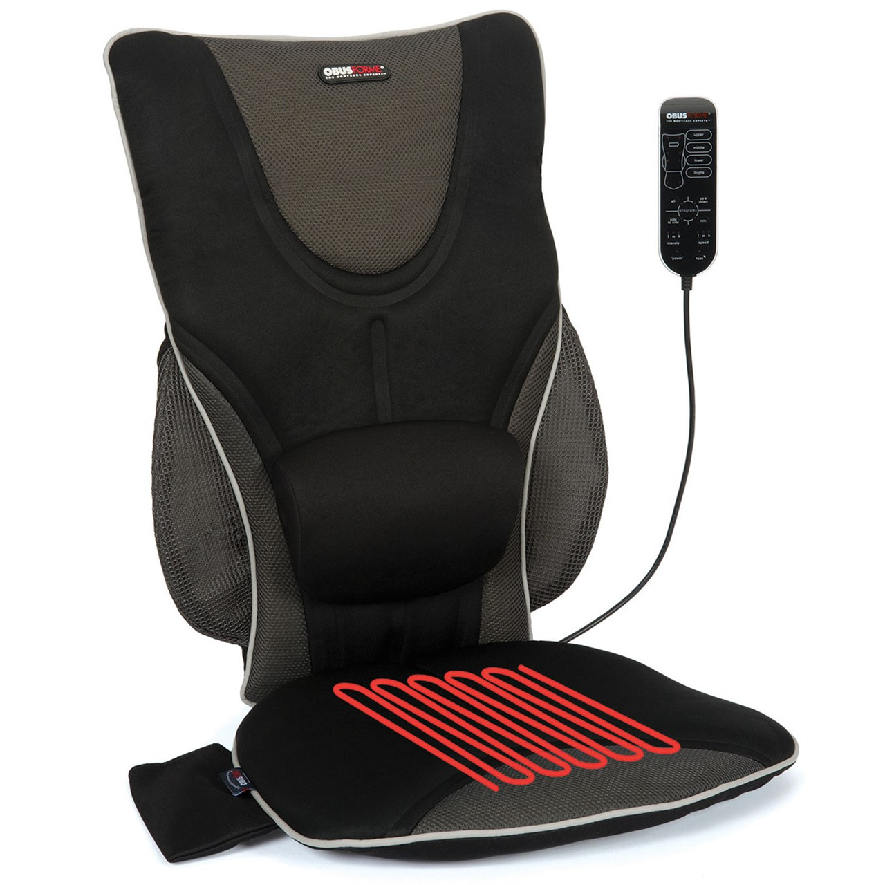 Cushion Chair Back Support Drivers Seat Cushion With Lumbar Pad Heat Massage