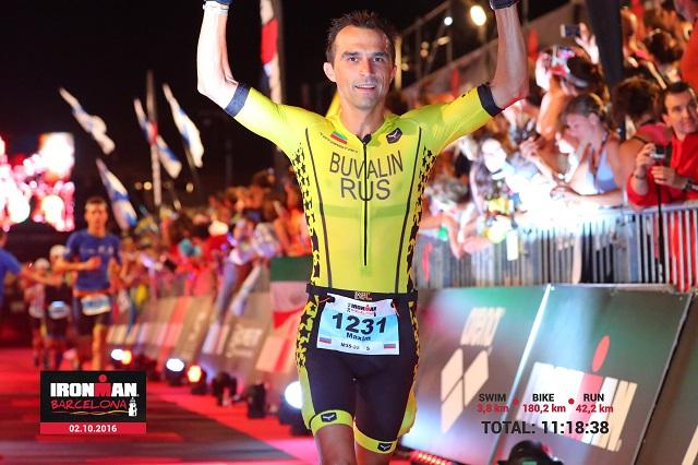 Финиш Ironman Barcelona 2016. Максим Бувалин.