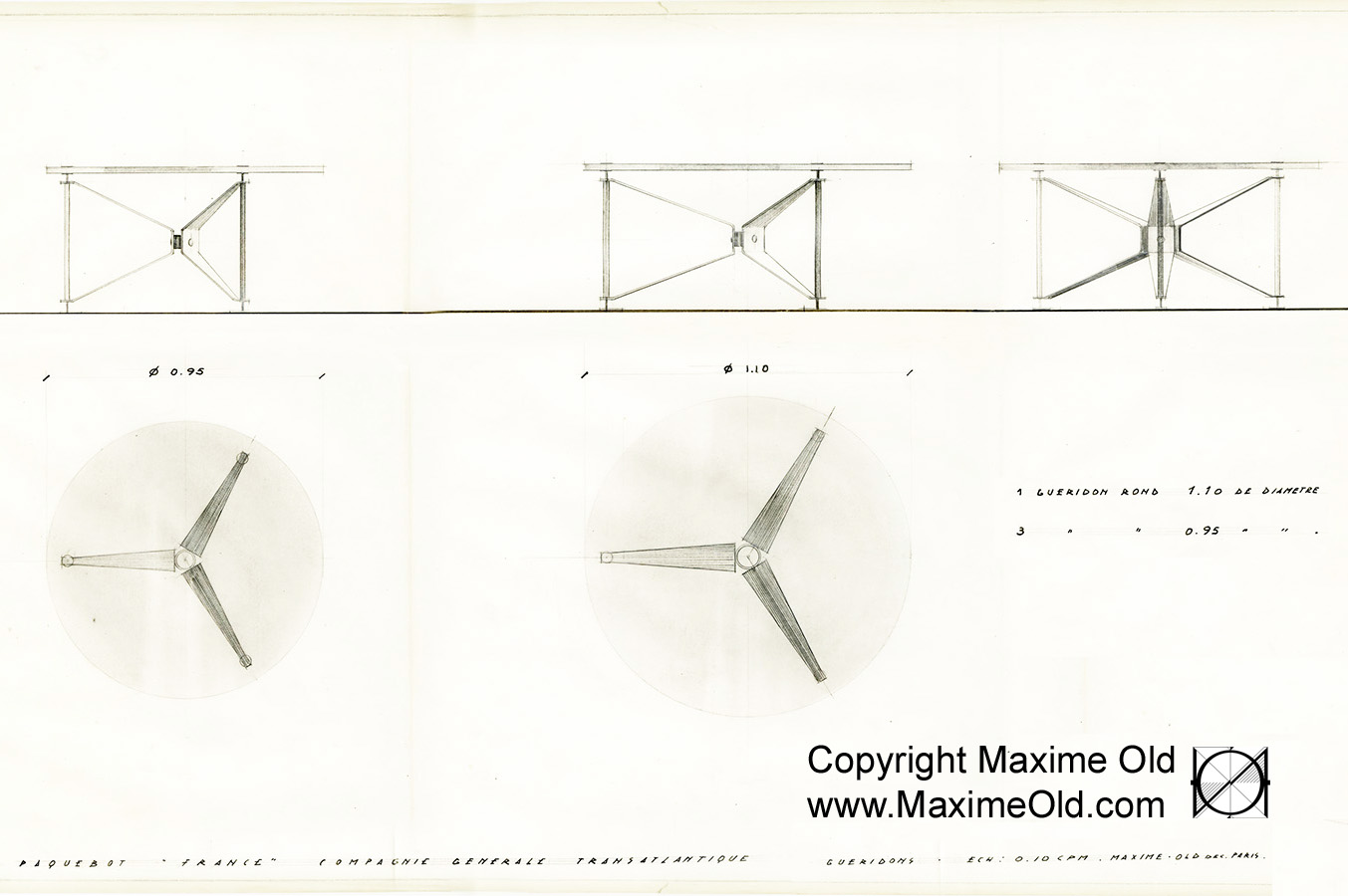 Meubles Basic Line France Original Cruise Liner France Propeller Table Archives Maxime Old