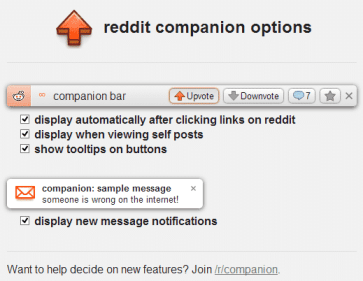 reddit companion options