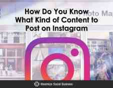 How Do You Know What to Post On Instagram?