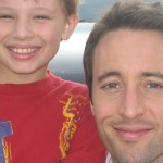 "Maxim Knight and Alex O'Loughlin on the set of ""Three Rivers"""