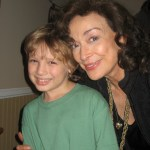 "Maxim with Miss Dixie Carter on the set of ""Our First Christmas"""