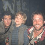 "Maxim with Noah Wyle and Drew Roy on the ""Falling Skies"" set"
