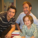 Maxim Knight with Writer Seth Morris and Director Ken Marino on set at Funny or Die Presents