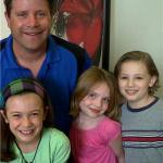 """Maxim with Sean Astin and friends at """"Special Agent Oso"""" recording session"""