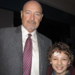 "Maxim Knight and Terry O'Quinn on the ""Falling Skies"" set"