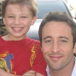 "Maxim with Alex O'Loughlin on the set of ""Three Rivers"""