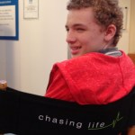 Hanging out on the set of Chasing Life