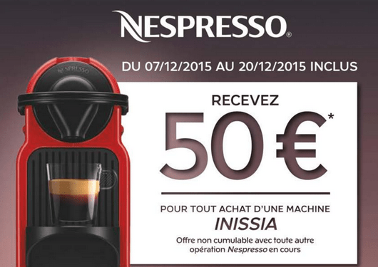 remboursement machine caf nespresso inissia. Black Bedroom Furniture Sets. Home Design Ideas