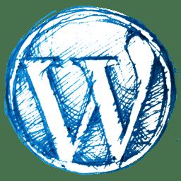 Hand Drawn WordPress Logo