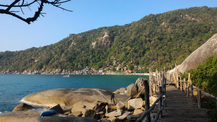 Пляж Haad Tien на восточном побережье Пангана