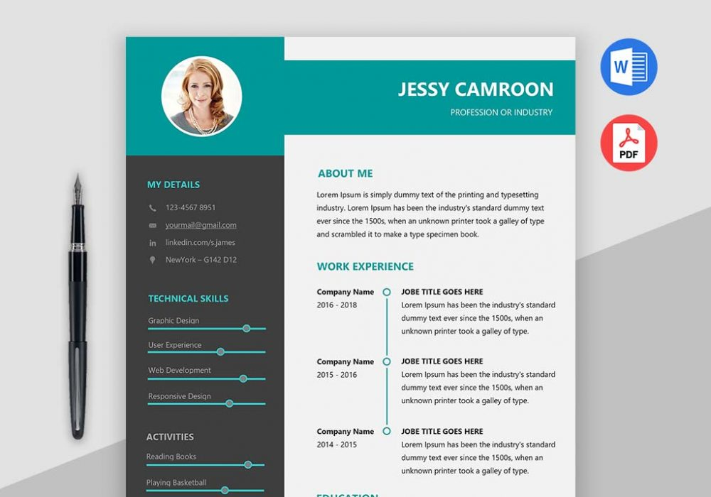 Modern Clean Resume Template Free Download - MaxResumes