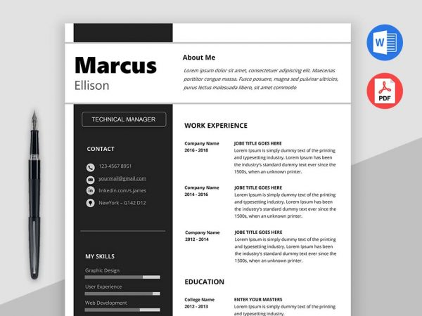 Download Clean and Simple Resume Templates - Max Resumes