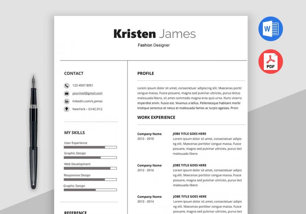 Race Simple Professional Resume Template - MaxResumes