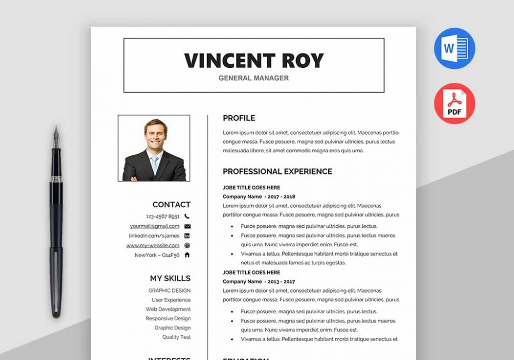 Resume Template Word Free Download - MaxResumes