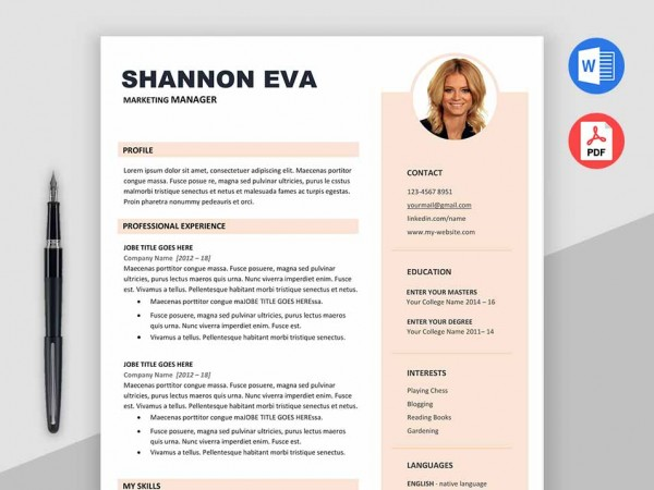 Creative Resume Template Free Download - Max Resumes