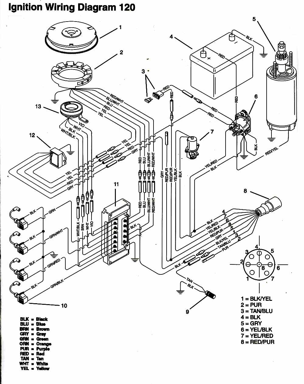 chrysler 15 outboard motor diagram