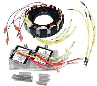Mercury Mariner outboard motor stators, triggers, switchboxes