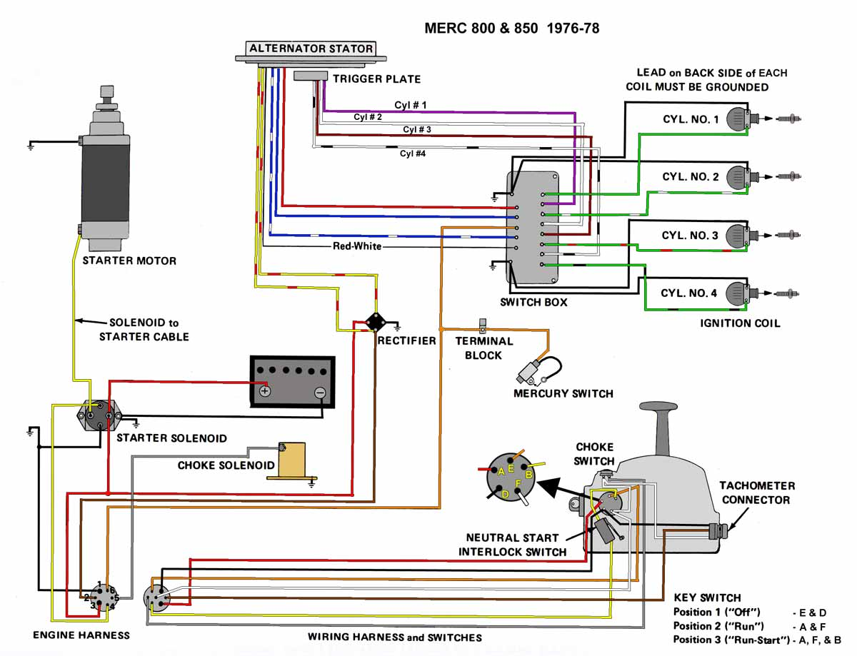 1994 40 hp 4 cyl mercury outboard wiring diagram