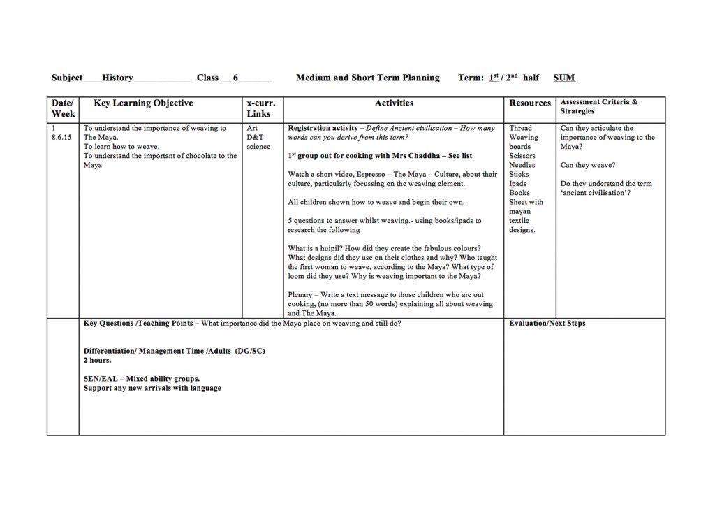Maya Weaving Lesson Plan - Maya Archaeologist