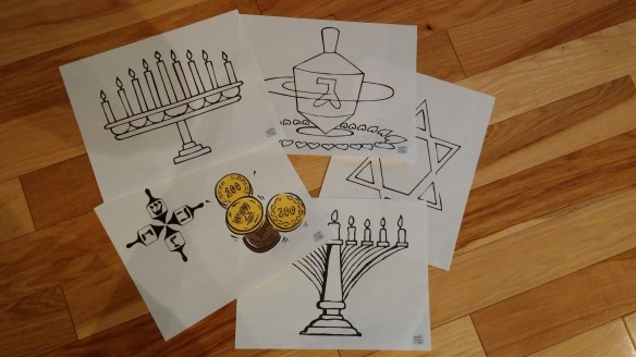 hanukka colouring pages