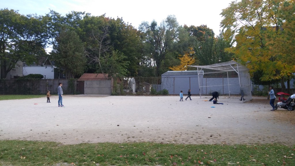 After school baseball game with friends
