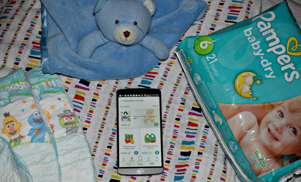 Pampers Rewards listing