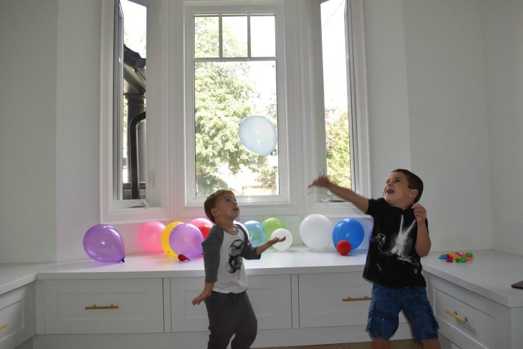 Ryan & Nate playing balloons